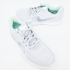 Nike Womens Flex TR8 Grey Mint White Shoes Lace Up